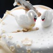 Wedding cake with white swans. — Stock Photo #18244537