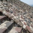 Fragment of step pyramid in Teotihuacan — Stock Photo #18507429