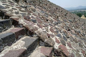 A fragment of the step pyramid in Teotihuacan — Stok fotoğraf