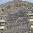 Stock Photo: Fragment of step pyramid in Teotihuacan