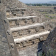 A fragment of the step pyramid in Teotihuacan — Stock Photo