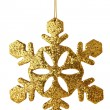 Royalty-Free Stock Photo: Golden xmas snowflake isolated