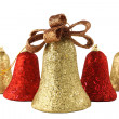 Christmas bells isolated — Stock Photo