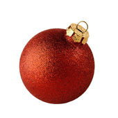 Red christmas ball isolated — Stock Photo