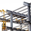 Stock Photo: Steel construction with girders isolated