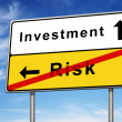 Stock Photo: Investment and risk road sign concept