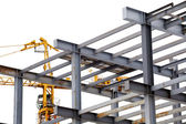 Steel construction with girders isolated — Stock Photo