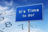 Concepto de signo camino tiempo y reloj — Foto de Stock