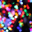 Blurred lights of christmas tree — Stock Photo