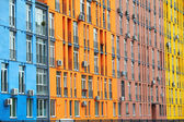 Colorful buildings and windows — Stock Photo