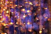 Christmas festoon blurred lights background — Stock Photo