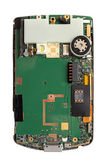 Smart phone circuit board isolated — Stock Photo