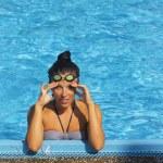 Pretty female swimmer — Stock Photo #12485605