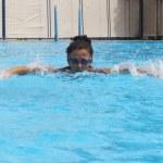 Pretty female swimmer — Stock Photo #12497394