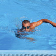 Athletic swimmer — Stock fotografie