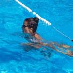 Pretty female swimmer — Stock Photo