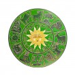 Green horoscope wheel — Stock Photo #8929562