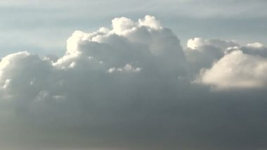 Formation of cumulus clouds in close-up — Stock Video
