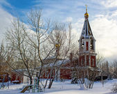 Christian church in winter — Stock Photo