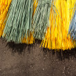 Stock Photo: Multi-colored brooms