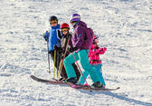 Skiing lessons — Stock Photo
