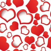 Red hearts seamless — Stock Vector