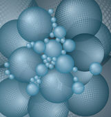 Blue balls background vector — Stock Vector