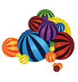 Colorful balls pile — Stock Vector