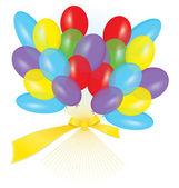 Ribbon balloon bouquet vector — Stock Vector