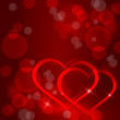 Sparkling hearts background vector — Wektor stockowy #17397065