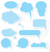 Speech bubble stickers vector — Stock Vector