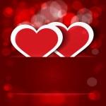 Sparkling hearts stickers vector — Stock Vector