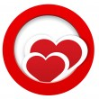 Heart stickers in and out frame vector — 图库矢量图片 #18487497