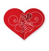 Heart card vector — Stock Vector