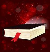 Magic light book vector — Stock Vector