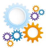 Cog wheels colored vector — Stock Vector