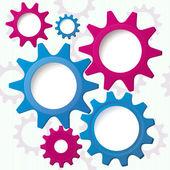 Cog wheels textured background vector — Stock Vector
