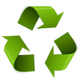 Recycling symbol vector — Stock Vector