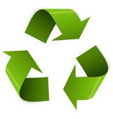 Recycling symbol vector — Stock Vector