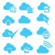 Cloud icon set internet — Stock Vector