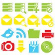 Internet icons database — Stock Vector #36362489