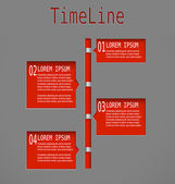 Time line red diagram — Stock Vector