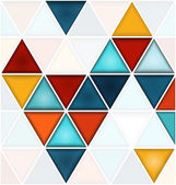 Triangles background with white copy space — Stock Vector