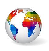 Rainbow colored glob icon — Stock Vector