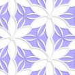 White floral detailed with purple seamless — Stock Vector