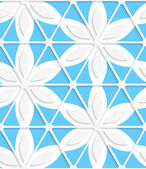 Floral with net and blue seamless — Vector de stock