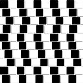 Black and white tiles optical illusion seamless — Stock Vector