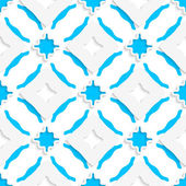 Wavy squares with blue wings seamless — Vecteur
