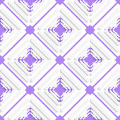 Diagonal offset squares and purple net pattern — Stock Vector