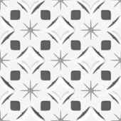 White snowflakes on dark gray seamless — Stock Vector